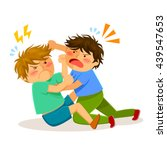 two boys hitting each other on... | Shutterstock . vector #439547653