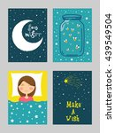 creative hand drawn cards set... | Shutterstock .eps vector #439549504