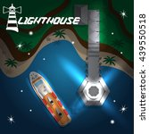 Lighthouse At Night. View From...