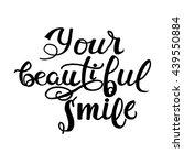 vector calligraphic... | Shutterstock .eps vector #439550884