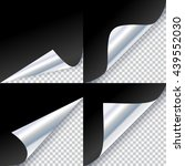 curled corners of silver page | Shutterstock .eps vector #439552030