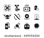 quadcopter and flying drone... | Shutterstock .eps vector #439554334