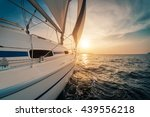 yacht sailing in the tropical... | Shutterstock . vector #439556218