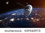 spacecraft launch into space.... | Shutterstock . vector #439560973