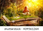 magical cartoon mushroom house... | Shutterstock . vector #439561264