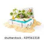fantastic tropical island with... | Shutterstock . vector #439561318