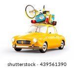 concept retro car with luggage. ... | Shutterstock . vector #439561390