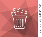 trash can icon   vector flat... | Shutterstock .eps vector #439561648