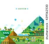 green energy  urban landscape ... | Shutterstock .eps vector #439562530