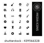 media icon set vector | Shutterstock .eps vector #439566328