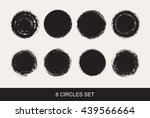 grunge circles.vector round... | Shutterstock .eps vector #439566664