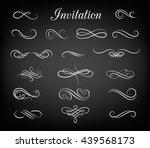 vintage ornate frames ... | Shutterstock .eps vector #439568173