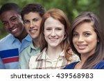 teenage friends spending time... | Shutterstock . vector #439568983