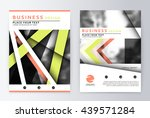 layout design template  annual... | Shutterstock .eps vector #439571284