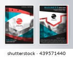 layout design template  annual... | Shutterstock .eps vector #439571440