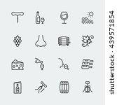 wine related vector icon set in ... | Shutterstock .eps vector #439571854