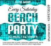 beach party flyer. place for... | Shutterstock .eps vector #439573039