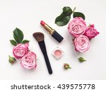 decorative flat lay composition ... | Shutterstock . vector #439575778