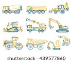 construction machinery outlined ... | Shutterstock .eps vector #439577860