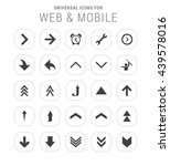25 universal icon set. simple... | Shutterstock .eps vector #439578016