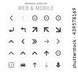 25 universal icon set. simple... | Shutterstock .eps vector #439578169