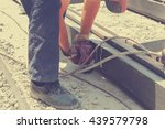 real and ordinary construction... | Shutterstock . vector #439579798