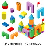 colorful building blocks for... | Shutterstock .eps vector #439580200