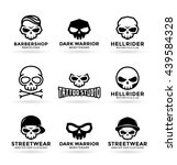 set of skulls and logo design... | Shutterstock .eps vector #439584328
