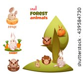 vector set of small forest cute ... | Shutterstock .eps vector #439584730