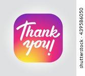 thank you followers. vector... | Shutterstock .eps vector #439586050