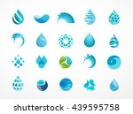 set of water  wave and drop... | Shutterstock .eps vector #439595758