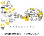 marketing team on white... | Shutterstock .eps vector #439599214