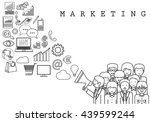 marketing team on white... | Shutterstock .eps vector #439599244