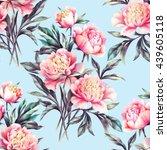 watercolor hand paint pink... | Shutterstock . vector #439605118