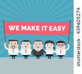 businessman and businesswoman... | Shutterstock .eps vector #439605274