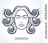 demeter  the greek goddess of...   Shutterstock .eps vector #439610464
