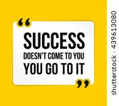 vector quote. success doesn't... | Shutterstock .eps vector #439613080