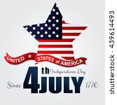 independence day 4th july.... | Shutterstock . vector #439614493