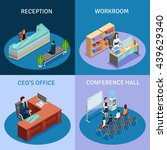 modern workplace 4 icons square ... | Shutterstock .eps vector #439629340