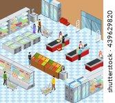 supermarket grocery store... | Shutterstock .eps vector #439629820