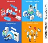 medical hospital personnel... | Shutterstock .eps vector #439629874