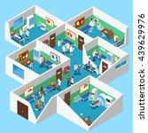 hospital ground floor interior... | Shutterstock .eps vector #439629976
