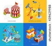 amusement park 2x2 isometric... | Shutterstock .eps vector #439629988