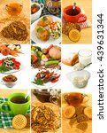 image of mix  different food... | Shutterstock . vector #439631344