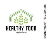 healthy food logo template | Shutterstock .eps vector #439635388