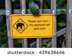 The Elephants Warning Signboard ...