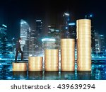 financial growth concept with... | Shutterstock . vector #439639294
