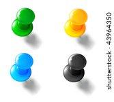 thumbtack  mesh | Shutterstock .eps vector #43964350