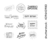 happy birthday | Shutterstock . vector #439643980