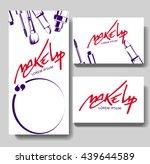 Makeup business card. Make up letters.